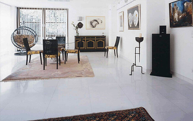 Diamond White, Stoneline Group's marble collection in tile collection.