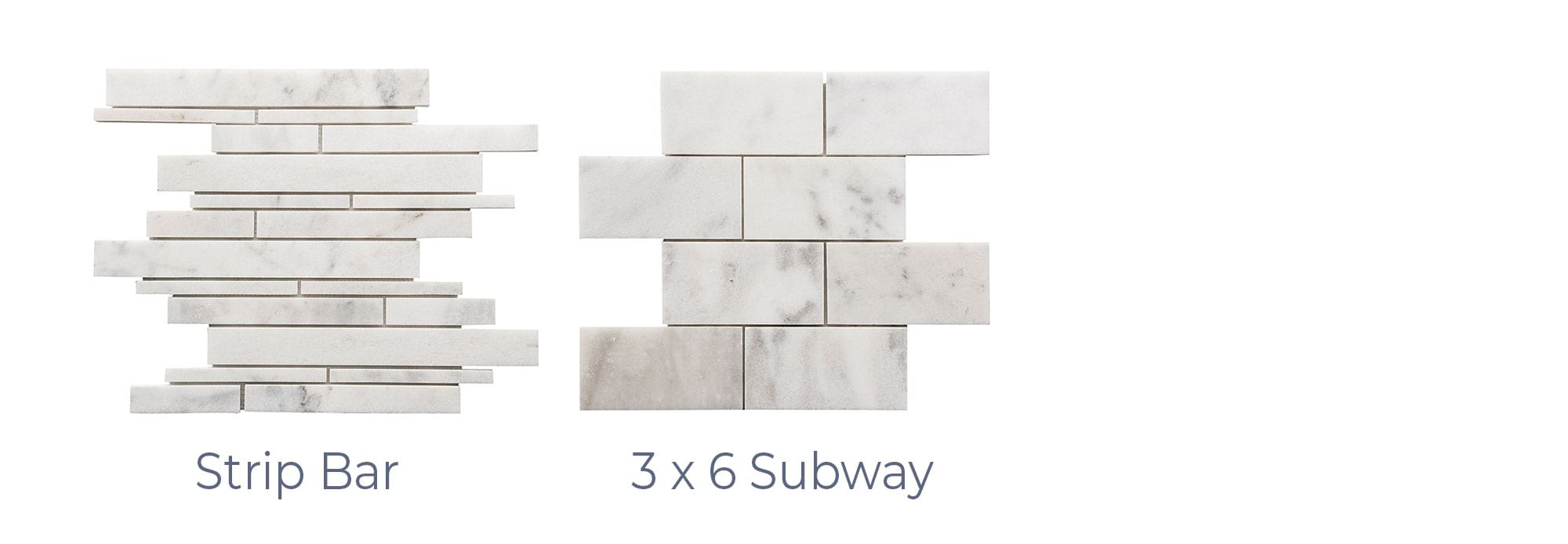 Stoneline-Group-Bianco-Ibiza-Marble-Collection-Marble-Mosaic-varieties-3×6-subway-strip-bar-Pictures