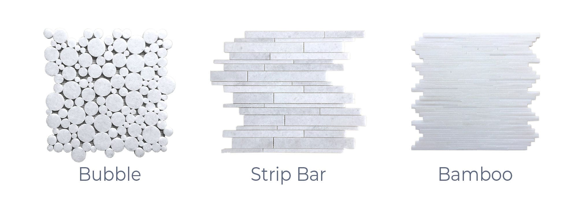 Stoneline-Group-Bianco-Ibiza-Marble-Collection-Marble-Mosaic-varieties-Bubble-Strip-Bar-Bamboo-Pictures