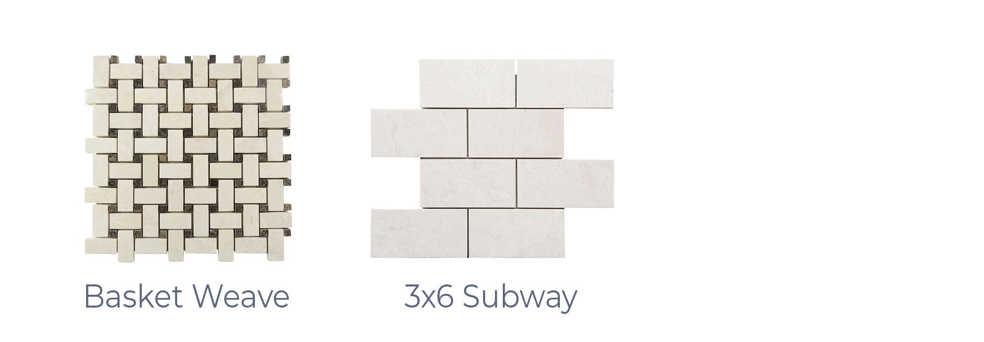 Stoneline-Group-French-Vanilla-Marble-Collection-Marble-Mosaic-Basket-Weave-3X6-Subway-Pictures-d