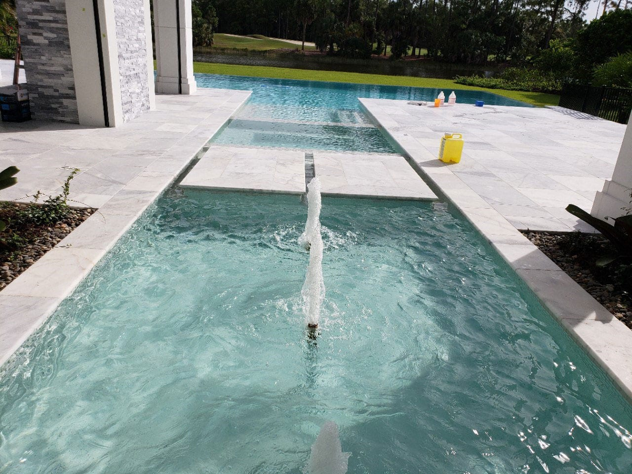Stoneline-Group-Ice-White-Marble-Collection-Marble-Tumbled-Paver-Pool-deck-backyards-Pictures