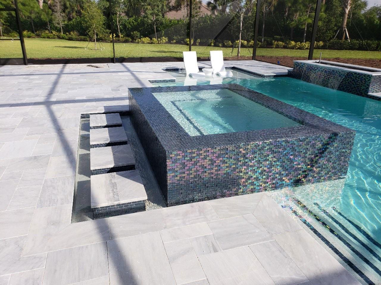 Stoneline-Group-Ice-White-Marble-Collection-Marble-Tumbled-Paver-Pool-deck-backyards-patio-Walk-Way-Pictures