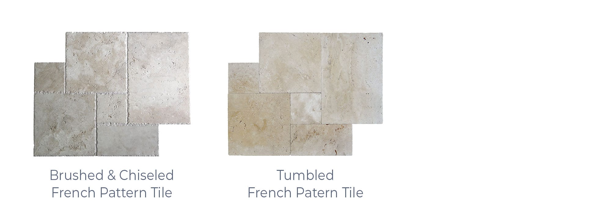 Stoneline-Group-Ivory-Marble-Collection-Marble-Tile-French-Pattern-Brushed-Chiseled-Tumbled-Pictures