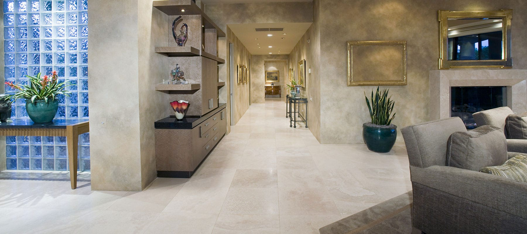 Stoneline-Group-Ivory-Marble-Collection-Marble-Tile-French-Pattern-Brushed-Chiseled-Tumbled-livingroom-floor-Pictures