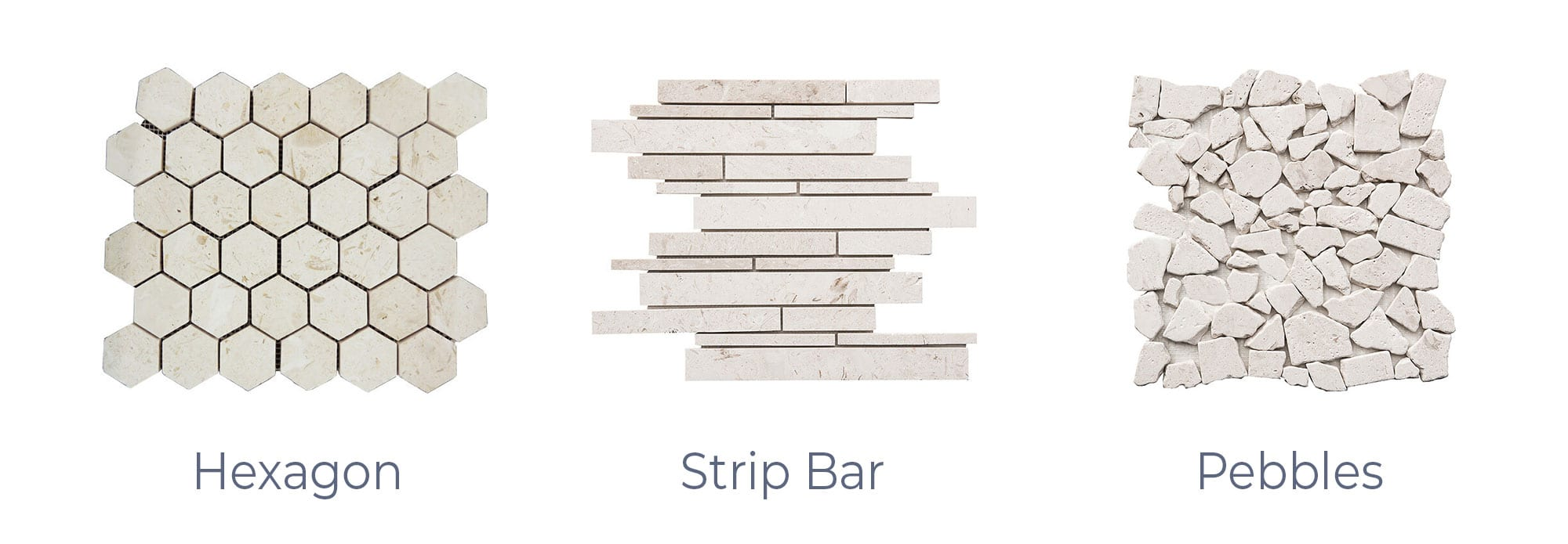 Stoneline-Group-Shell-Beige-Travertine-Marble-Collection-Marble-Mosaic-Hexagon-Strip-Bar-Pebbles-Pictures