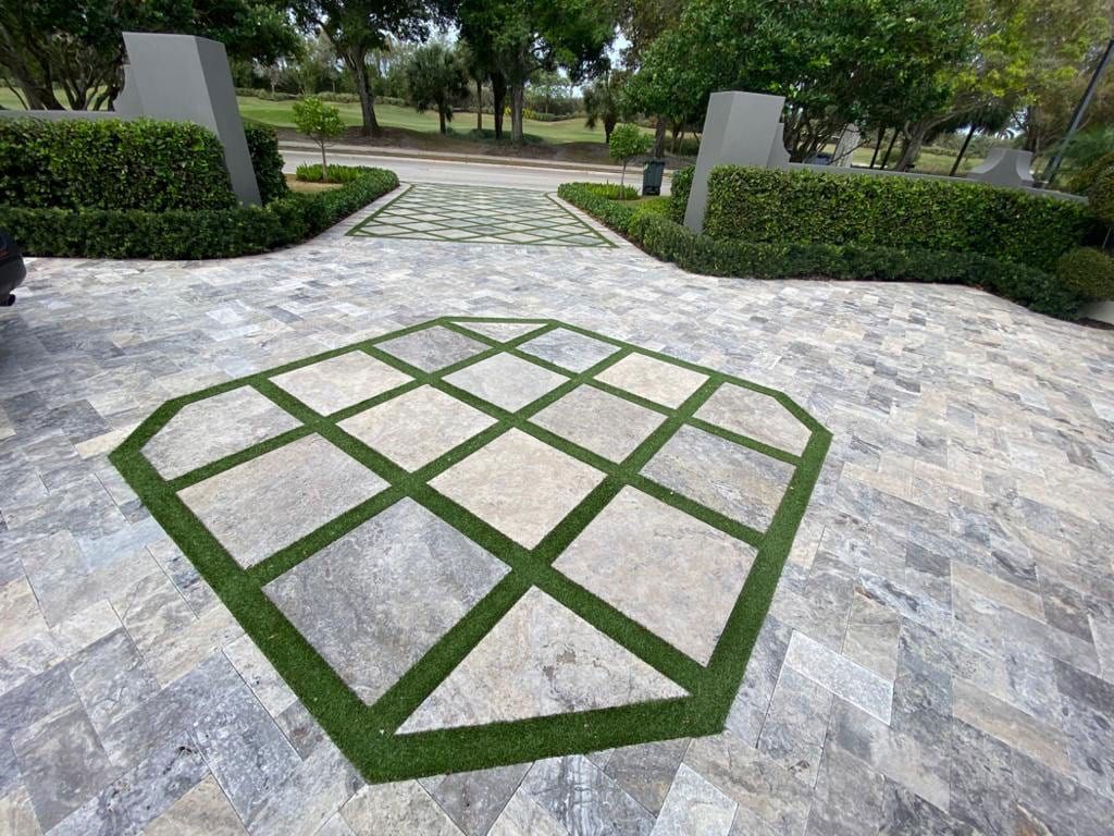 Stoneline-Group-Silver-Travertine-Marble-Collection-Marble-Paver-driveway-marble-design-Pictures