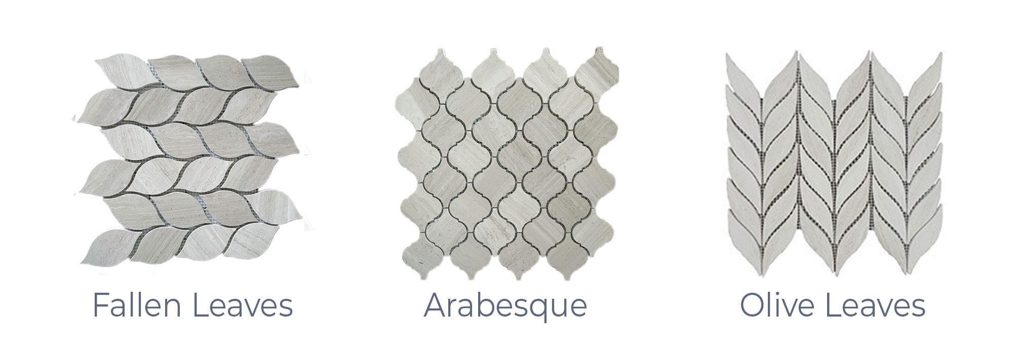 Stoneline-Group-White-Wood-Marble-Collection-Marble-Mosaic-varieties-Fallen-Leaves-Arabesque-Olive-Leaves-Pictures