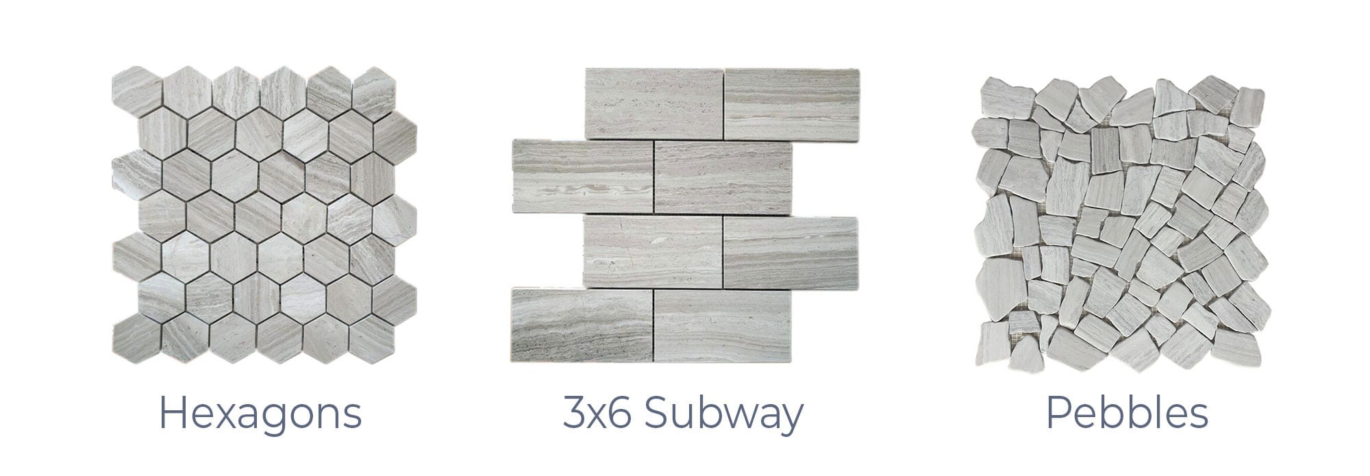 Stoneline-Group-White-Wood-Marble-Collection-Marble-Mosaic-varieties-Hexagon-Pebbles-3×6-Sbuway-Pictures