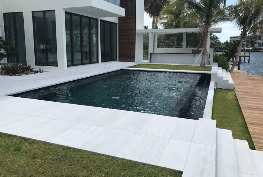 Stoneline-Group-Ice-White-Marble-Collection-Marble-Sand-Blasted-Paver-Pool-deck-backyards-walkway-outdoor-Pictures-2