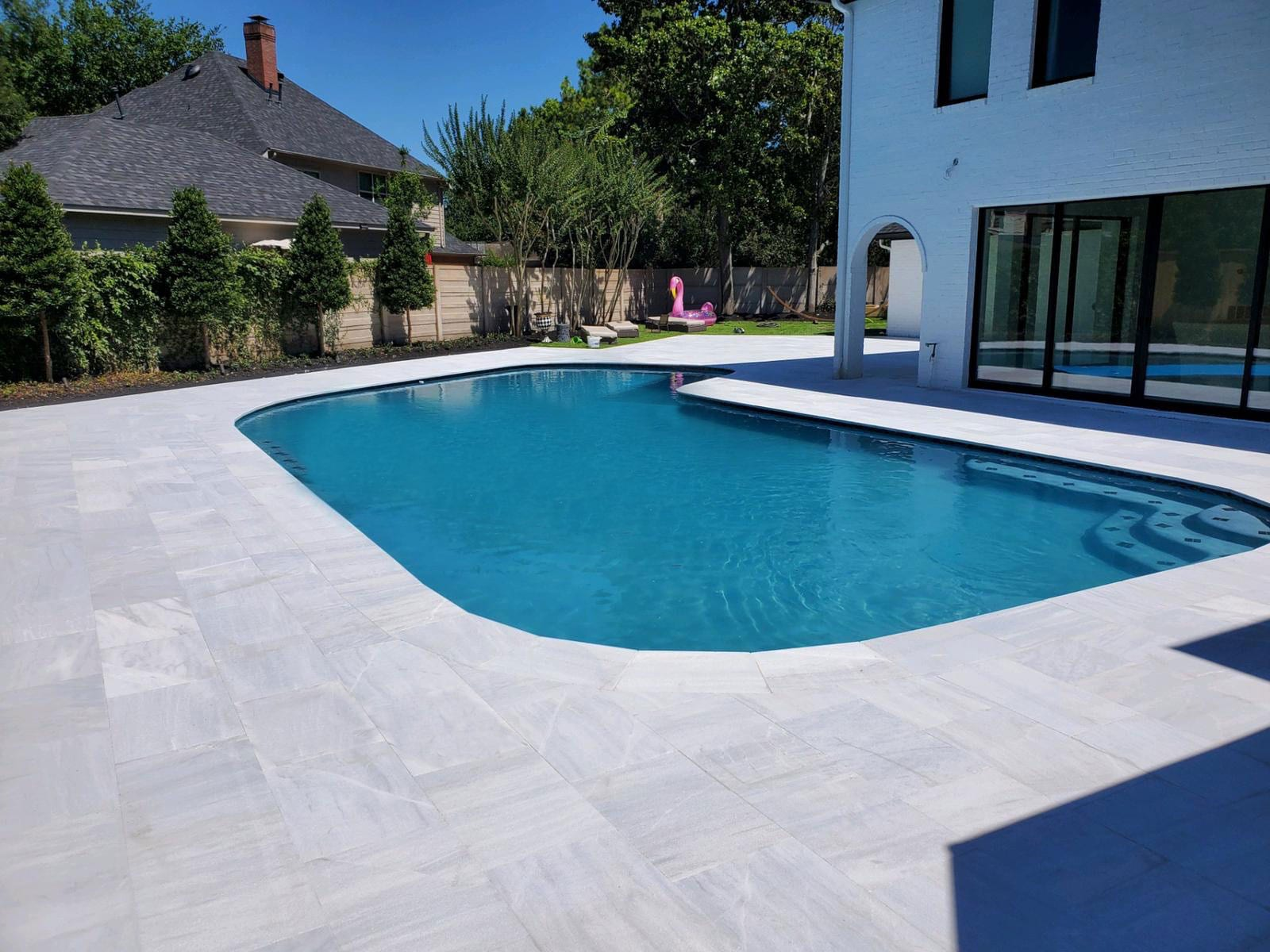 Stoneline-Group-Ice-White-Marble-Collection-Marble-Sand-Blasted-Paver-Pool-deck-backyards-walkway-outdoor-Pictures-4