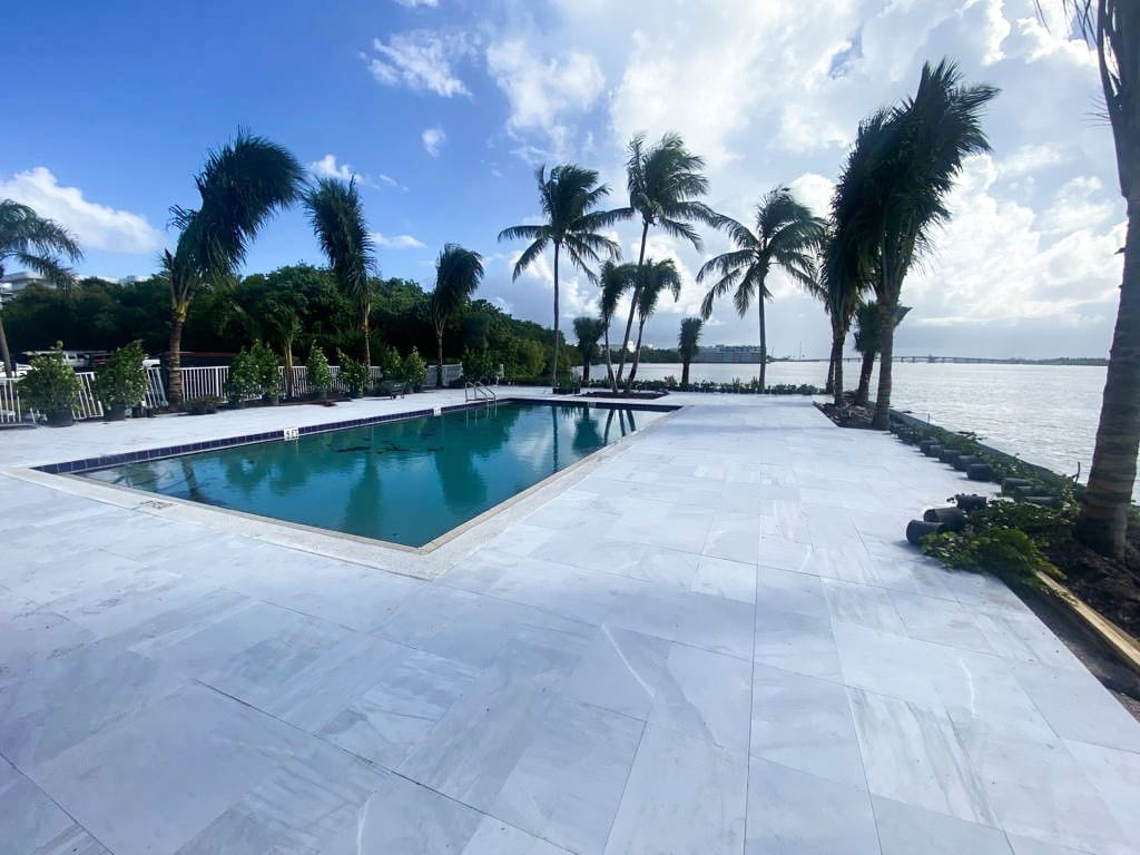 Stoneline-Group-Ice-White-Marble-Collection-Marble-Sand-Blasted-Paver-Pool-deck-backyards-walkway-outdoor-Pictures-5