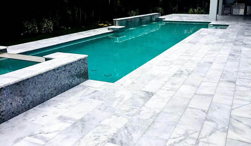 Stoneline-Group-New-Calacatta-Marble-Collection-Marble-Paver-Marble-Design-pool-deck-patio-walk-way-Pictures